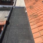 bitumen dak met regendoorvoer